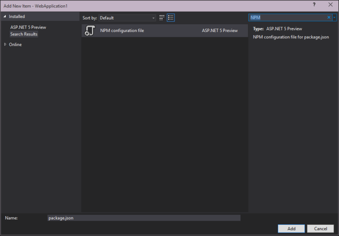new-npmconfig
