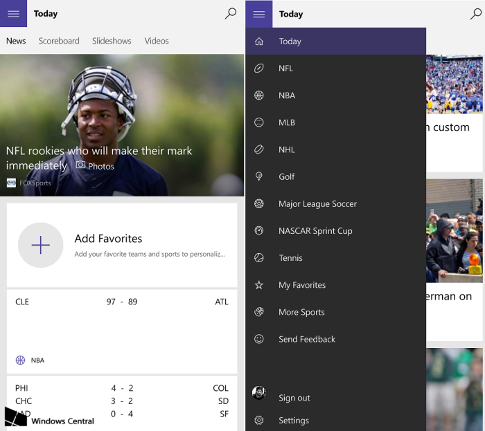 MSN-Sport-new-Windows-10-Mobile-screens
